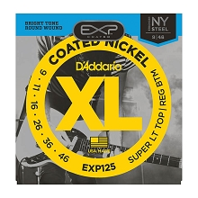 D'Addario EXP Coated Nickel Wound Electric Guitar String Set 09-46 LT/RB EXP125