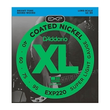 D'Addario EXP Coated XL Nickel Bass String Set Long Scale - 4-String 40-095 Super Light EXP220