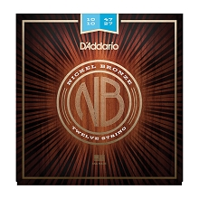 D'Addario Nickel Bronze Wound Acoustic Guitar String Set 10-47 12-String Light NB1047-12