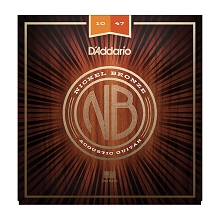D'Addario Nickel Bronze Wound Acoustic Guitar String Set 10-47 Extra-Light NB1047