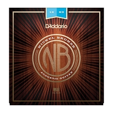 D'Addario Nickel Bronze Wound Acoustic Guitar String Set 12-53 Light NB1253