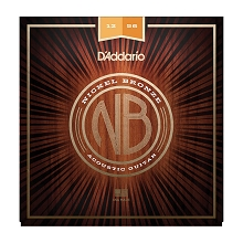 D'Addario Nickel Bronze Wound Acoustic Guitar String Set 12-56 LT/HB NB1256