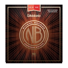 D'Addario Nickel Bronze Wound Acoustic Guitar String Set 13.5-56 Balanced Tension Medium NB13556BT