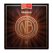 D'Addario Nickel Bronze Wound Acoustic Guitar String Set 13-56 Medium NB1356