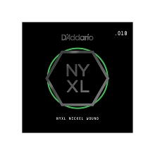 D'Addario NYXL Nickel Wound Single Electric Guitar String .018w