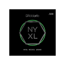 D'Addario NYXL Nickel Wound Single Electric Guitar String .020w