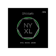 D'Addario NYXL Nickel Wound Single Electric Guitar String .024w