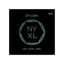 D'Addario NYXL Nickel Wound Single Electric Guitar String .025w