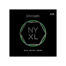D'Addario NYXL Nickel Wound Single Electric Guitar String .028w