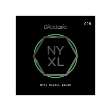 D'Addario NYXL Nickel Wound Single Electric Guitar String .029w