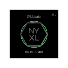 D'Addario NYXL Nickel Wound Single Electric Guitar String .031w