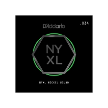 D'Addario NYXL Nickel Wound Single Electric Guitar String .034w