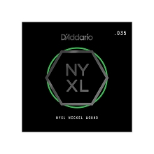 D'Addario NYXL Nickel Wound Single Electric Guitar String .035w