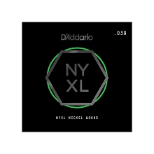 D'Addario NYXL Nickel Wound Single Electric Guitar String .039w