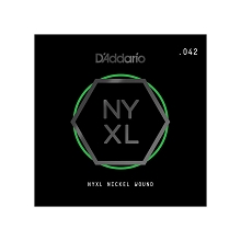D'Addario NYXL Nickel Wound Single Electric Guitar String .042w