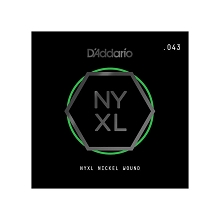 D'Addario NYXL Nickel Wound Single Electric Guitar String .043w