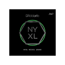 D'Addario NYXL Nickel Wound Single Electric Guitar String .047w