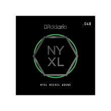 D'Addario NYXL Nickel Wound Single Electric Guitar String .048w