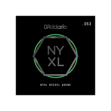 D'Addario NYXL Nickel Wound Single Electric Guitar String .053w