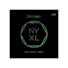 D'Addario NYXL Nickel Wound Single Electric Guitar String .056w