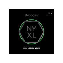 D'Addario NYXL Nickel Wound Single Electric Guitar String .058w