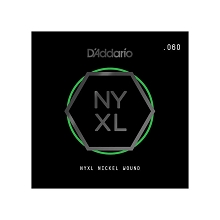 D'Addario NYXL Nickel Wound Single Electric Guitar String .060w