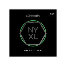 D'Addario NYXL Nickel Wound Single Electric Guitar String .063w
