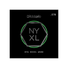 D'Addario NYXL Nickel Wound Single Electric Guitar String .076w