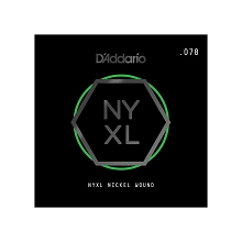 D'Addario NYXL Nickel Wound Single Electric Guitar String .078w