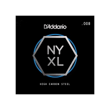D'Addario NYXL High Carbon Plain Steel Single Electric Guitar String .008p