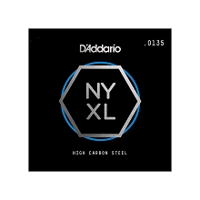 D'Addario NYXL High Carbon Plain Steel Single Electric Guitar String .0135p