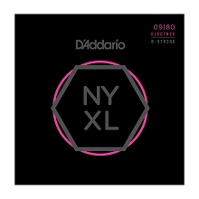 D'Addario NYXL Nickel Wound Guitar String Set 8-String 09-80 Super Light NYXL0980
