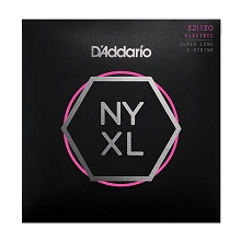 D'Addario NYXL Nickel Wound Bass String Set Super Long Scale - 6-String 32-130 Light NYXL32130SL