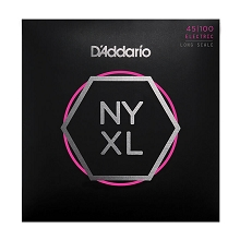 D'Addario NYXL Nickel Wound Bass String Set Long Scale - 4-String 45-100 Light NYXL45100