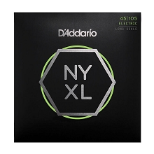 D'Addario NYXL Nickel Wound Bass String Set Long Scale - 4-String 45-105 Custom Light NYXL45105