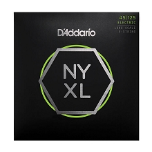 D'Addario NYXL Nickel Wound Bass String Set Long Scale - 5-String 45-125 NYXL45125