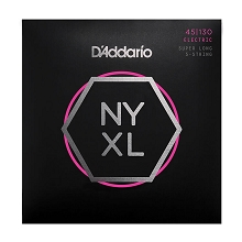 D'Addario NYXL Nickel Wound Bass String Set Super Long Scale - 5-String 45-130 Light NYXL45130SL
