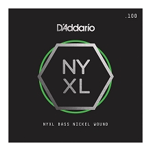 D'Addario NYXL Nickel Wound Single String Super Long Scale - .100