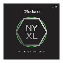 D'Addario NYXL Nickel Wound Single String Long Scale - .105T Tapered