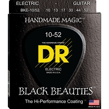 DR Black Beauties K3 Black Coated Electric Guitar String Set - 10-52 Big-N-Heavy BKE-10/52