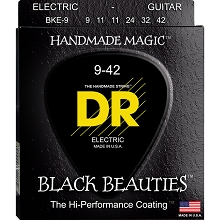 DR Black Beauties K3 Black Coated Electric Guitar String Set - 09-42 Light BKE-9