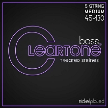 Cleartone EMP Treated Nickel Plated Steel Electric Bass String Set 5-String 45-130 Medium 6445-5