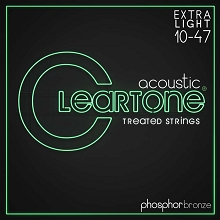 Cleartone EMP Treated Phosphor Bronze Acoustic Guitar String Set 10-47 Ultra-Light 7410