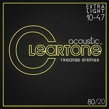 Cleartone EMP Treated 80/20 Bronze Acoustic Guitar String Set 10-47 Ultra-Light 7610