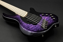 Dingwall Combustion C3 5-String Amethyst Burst Maple Fingerboard Limited Edition w/ Gig Bag
