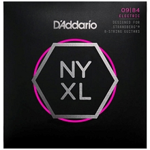 D'Addario NYXL Nickel Wound Guitar String Set 8-String 09-84 Multi-Scale Strandberg NYXL0984SB