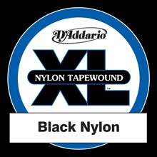 D'Addario Black Nylon Tapewound Single String Long Scale - .105