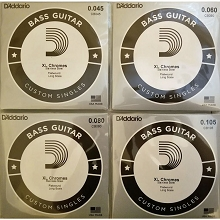 D'Addario Chromes Flatwound Balanced Tension String Set - 4-String .045 .060 .080 .105
