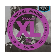 D'Addario XL Nickel Wound Fender Bass VI String Set 24-84 EXL156