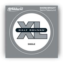 D'Addario XL Half Rounds Single String Short Scale - .065